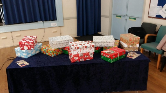 Shoeboxes for Operation Christmas Child (1)